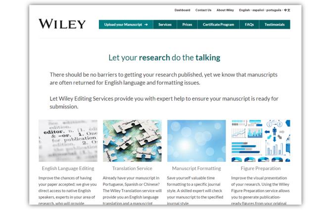 Wiley english editing service