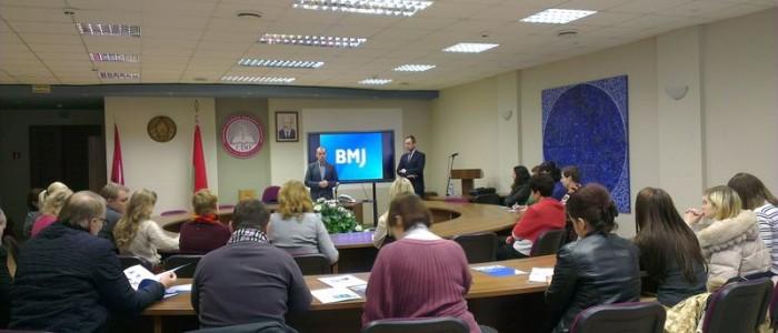 Компания BMJ представила в Беларуси свои журналы и специальные ресурсы для медиков