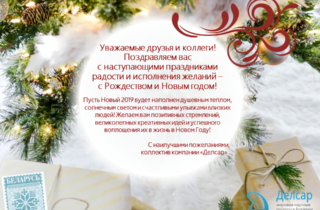 С Рождеством и Новым 2019 годом!