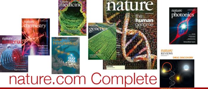 Более 130 журналов на платформе Nature Complete