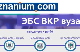 ЭБС Znanium + ЭБС ВКР вуз